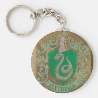 Slytherin Crest HPE6 Basic Round Button Key Ring