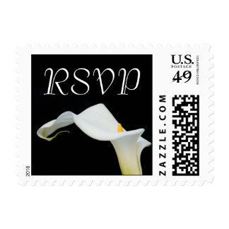 Small Calla Lily RSVP Postage Stamp