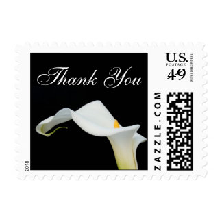 Small Calla Lily Thank You Postage Stamp