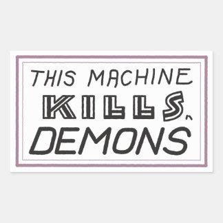 """Small """"This Machine Kills Demons"""" sticker"""