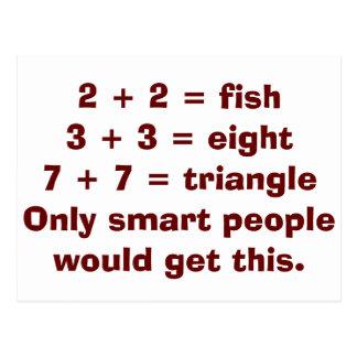 Smart People Math Postcards