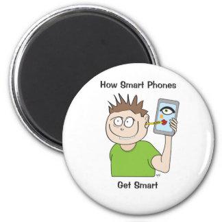 smart-phone 6 cm round magnet