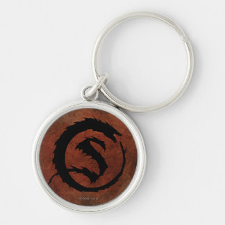 SMAUG™ Logo Silver-Colored Round Key Ring