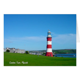 Smeaton's Tower, Plymouth Hoe Note Card