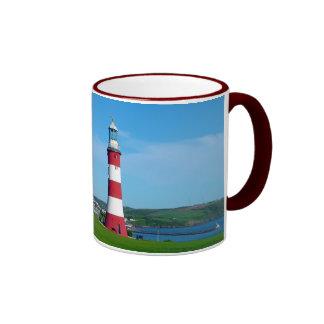 Smeaton's Tower, Plymouth Hoe Ringer Mug