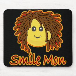 Smile Mon Fire Rasta Smiley Face Mouse Pad