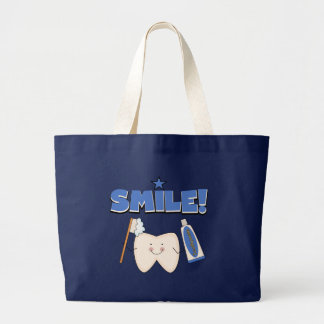 SMILE - Tooth T-shirts and Gifts Jumbo Tote Bag
