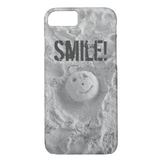 Smiley Face in the Sand iPhone 7 case