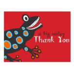 Smiley Frog Thank You Card Postcard