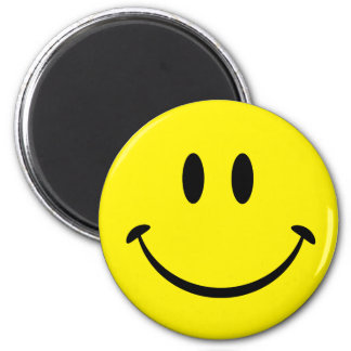 Smiley Happiness Face 6 Cm Round Magnet