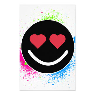 Smiley Heart Stationery Paper