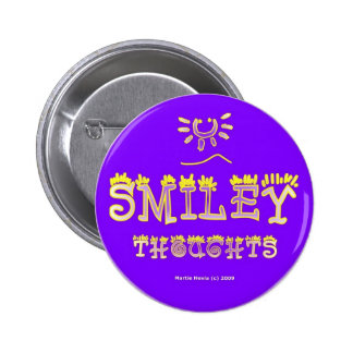 Smiley Thoughts (2b) Button/Pin 6 Cm Round Badge