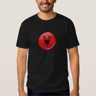 Smiling Albanian Flag T-shirts