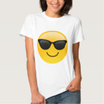 Smiling Face With Sunglasses Cool Emoji Tee Shirt