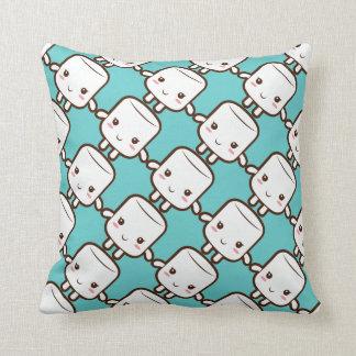 Smiling marshmallow throw cushions