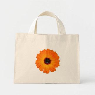 Smiling Orange Flower Mini Tote Bag