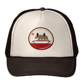 Smiling Round California Flag Cap