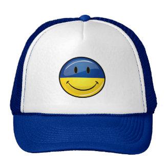 Smiling Round Ukrainian Flag Cap