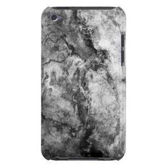 Smoke Streaked Black White marble stone finish iPod Touch Cases