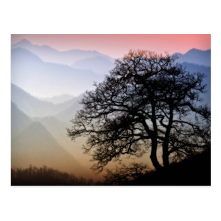 Smoky Mountain Sunset from the Blue Ridge Parkway Postcard