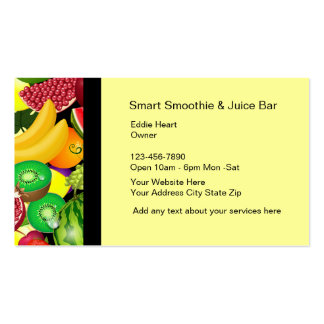Smoothie And Fruit Bar Business Cards