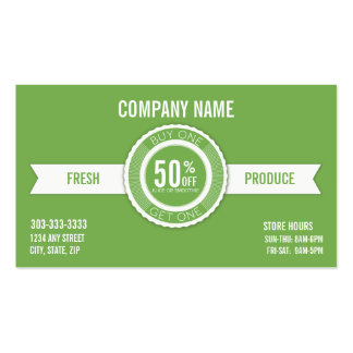 Smoothie & Juice buy one get one business card
