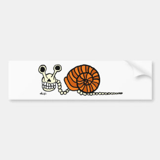Snail Skeleton Bumper Sticker