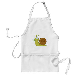 Snail With A Flower In Its Mouth Standard Apron