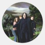Snape Hermoine Ron Harry Round Sticker