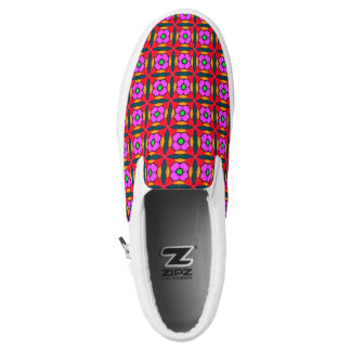 Sneakers in Flower Power in Pink Design