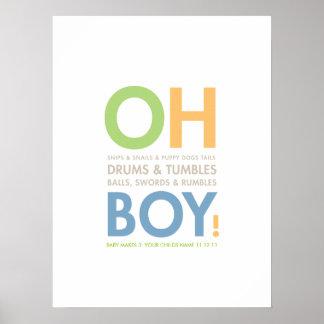 Snips & Snails Baby Boy's Room Poster