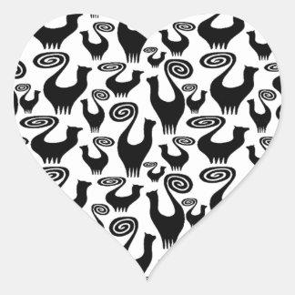 SNOOTY CAT SCATTER LARGE POSTER.jpg Heart Sticker