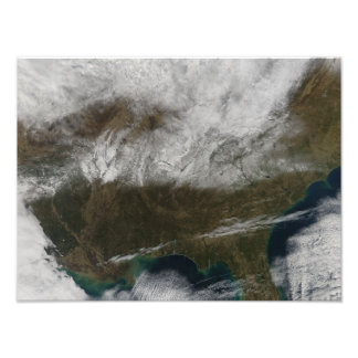 Snow cover stretching from northeastern Texas Photo Print