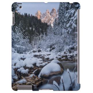 Snow-covered Geisler Mountain Range iPad Case