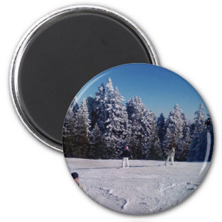 Snow Days 6 Cm Round Magnet