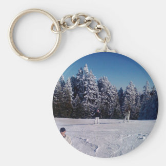 Snow Days Basic Round Button Key Ring