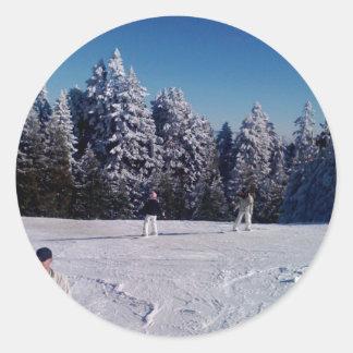 Snow Days Round Sticker