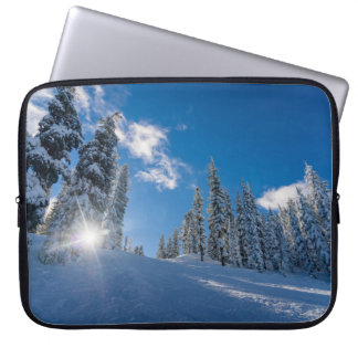 Snow forest computer sleeves