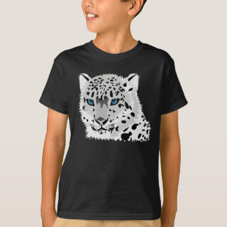 Snow leopard graphic tee shirt