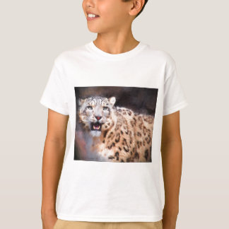 Snow Leopard Painting T-shirts