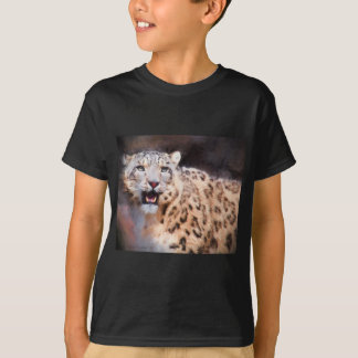 Snow Leopard Painting Tshirt