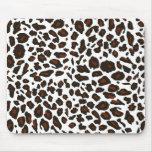 Snow Leopard Print Mouse Pad