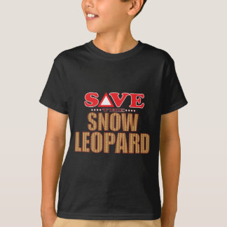 Snow Leopard Save T Shirts