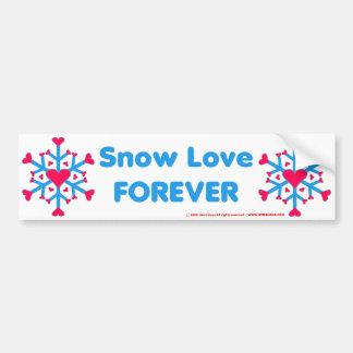 Snow Love Bumpersticker Bumper Sticker