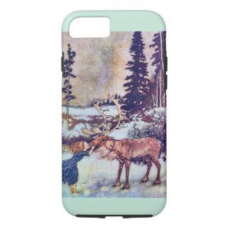 Snow Queen Fairy Tale with Reindeer iPhone 7 Case