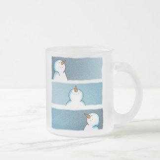 Snow Trio Frosted Glass Mug