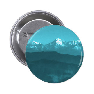 Snow views of Chinese Mountains from Almora Hills 6 Cm Round Badge