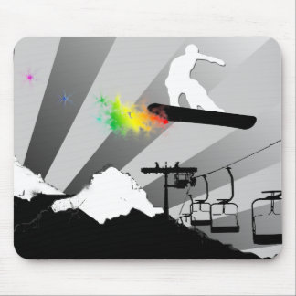 snowboard. color. mouse pad