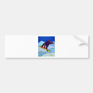Snowboarding by Piliero Bumper Sticker