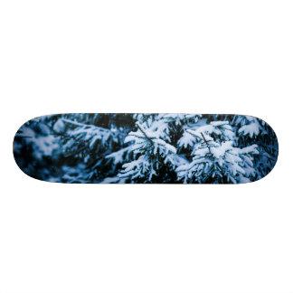 Snowfall Winter Christmas Tree 20.6 Cm Skateboard Deck